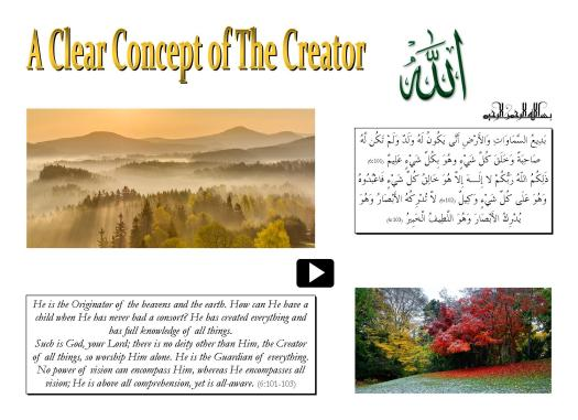 A Clear Concept of The Creator
